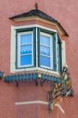 Typical tyrolean window in Northern Italy Tyrol — Стоковое фото