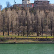 Monte dei Cappuccini abbey and Po river, Turin city centre, North of Italy — Stock Photo #66556893