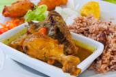 Poulet Colombo, typical recipe for chicken of Caribbean islands — Stock Photo