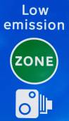 Low emission zone signal in London — Stock Photo