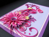 Paper quilling card — Zdjęcie stockowe