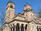 Orthodox church St. Marco in the center of the city Belgrade, Serbia — Stok fotoğraf