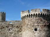 Architecture details of Kalemegdan fortress in Belgrade, Serbia — Stock Photo