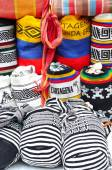 Colombian bags on a market stall in Cartagena, Colombia — Stock Photo