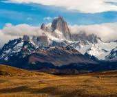 Fitz Roy Mountain, El Chalten, Patagonia, Glaciers National Park — Stock Photo
