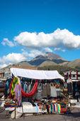 Famous Indian market in Otavalo, Ecuador, South America — Foto Stock