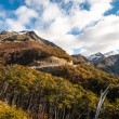 Autumn in Patagonia. Cordillera Darwin, Tierra del Fuego — Stock Photo #75304437