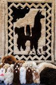 Traditional dolls llamas in Otavalo, Ecuador — Stock Photo