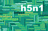 H5N1 background — Stock Photo