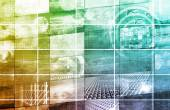 Data Network background — Stock Photo