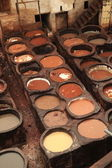 Moroccan Tannery — Stock Photo