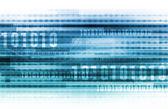 Binary Data Background — Stock Photo
