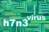 H7N3 concept background — Stock Photo