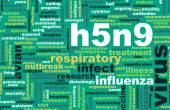H5N9 concept — Stock Photo