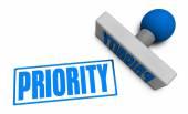 Priority Stamp texture — Stock Photo