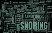Snoring or Apnea concept — Stock Photo