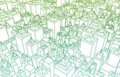 Wireframe City — Stock Photo