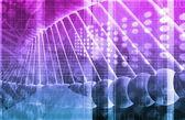 Medicinska genetiska Dna — Stockfoto