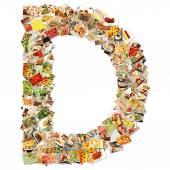 Letter D Uppercase Font — Stock Photo