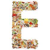 Letter E Uppercase Font — Stock Photo