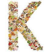 Letter K Uppercase Font — Stock Photo