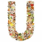 Letter U Uppercase Font — Stock Photo