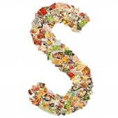 Letter S Uppercase Font — Stock Photo