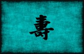 Chinese Character Painting for Longevity — Stock Photo