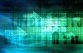 Una rete di industria di tecnologia come sfondo — Foto Stock