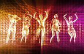Disco Techno Party Background — Stock Photo