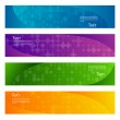 Set of 4 colorful abstract horizontal web banners. — Stock Vector #69526887