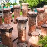 Columns of the Temple, Vietnam — Stock Photo #55896713