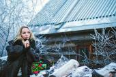 Girl winter — Stock Photo