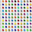 100 file types icons — Stock Vector #56705503