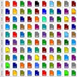 100 file types icons — Stock Vector #56706015