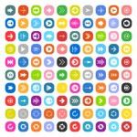 100 arrow sign icons set — Stock Vector #56706975