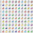 100 file types icons — Stock Vector #56708311