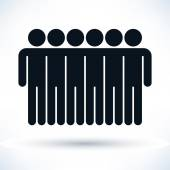 Black logotype six men — Stockvektor