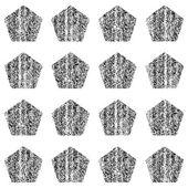 Black color pentagon shape — Stockvector