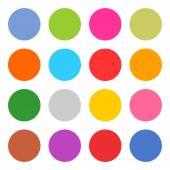 白い背景の上の 16 の空白のアイコン丸 web ボタン — ストックベクタ