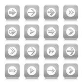 16 arrow icons set — Stock Vector