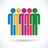 Colored  people (men figure) — Stock Vector