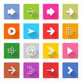 16 arrow icons set — Stock Vector