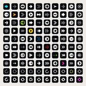 100 arrow sign icons set — Stock Vector
