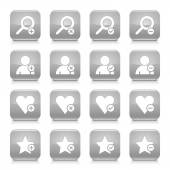 16 additional icons set — Stock Vector