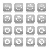 16 arrow reload, rotation icons — Stock Vector