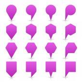 バイオレット色地図ピン アイコン サテン場所空のコピー スペースと記号 — ストックベクタ