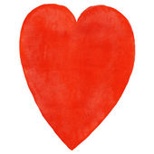 Watercolor heart red color — Stock Photo