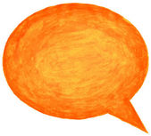 Orange watercolor empty speech bubble — Stockfoto