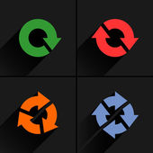 4 arrow icon refresh — Stock vektor